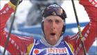 Johann Muehlegg, tras ganar los 50 km del Mundial de esquí de fondo...