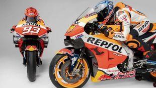 Las dos motos, cruzadas