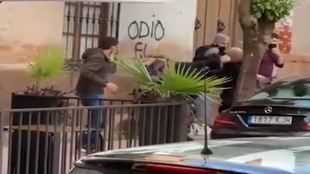 Hombre agredido Linares - policia - imputado
