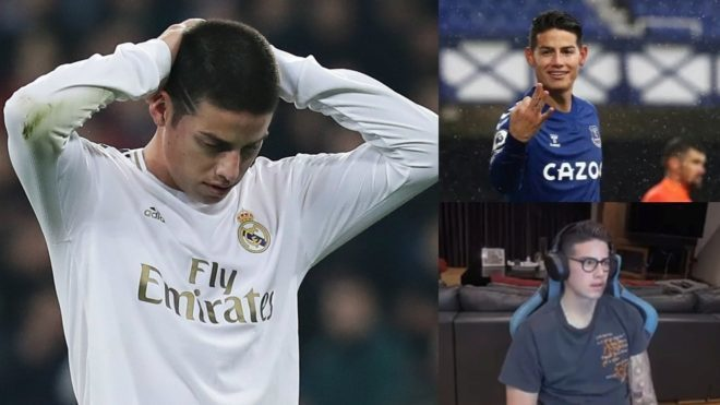 James, en el Madrid, en el Everton y en Twitch.