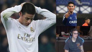 James, en el Madrid, en el Everton y en Twitch.
