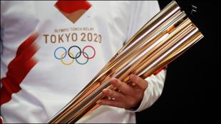 La antorcha olímpica.