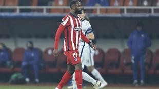 Dembélé durante el partido ante el Chelsea.
