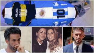 Leopoldo Luque, las hijas de Maradona y el abogado Matías Morla.