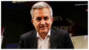 Víctor Font posa en su sede electoral.