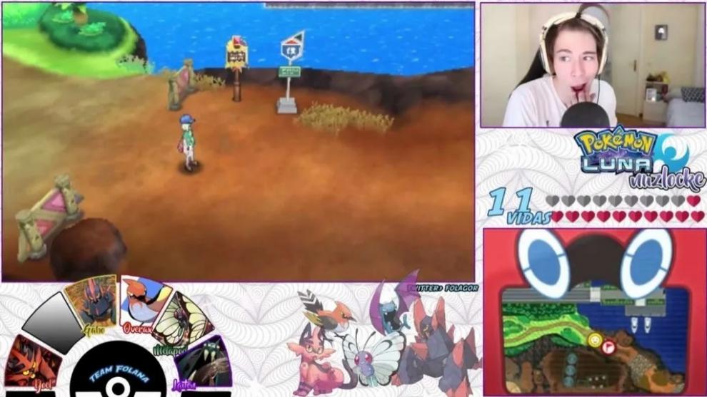 Folagor durante uno de sus lockes Pokémon.