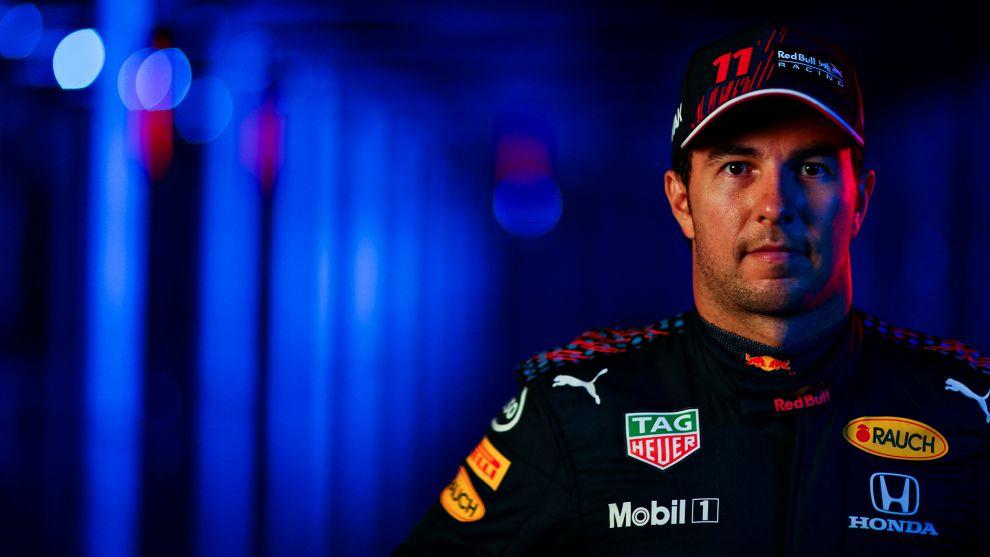 Sergio Checo Pérez, con Red Bull.