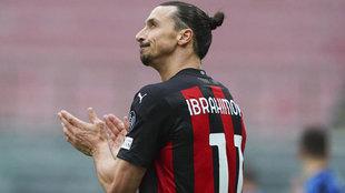 Zlatan Ibrahimovic, jugador del Milan.
