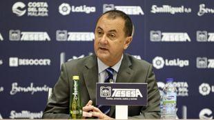 José María Muñoz, el administrador judicial del club costasoleño...