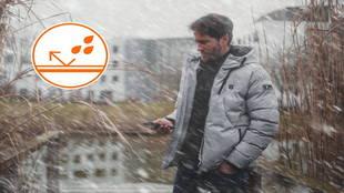 Imagen de la chaqueta calefactable Heaty Urban 11 en color gris.