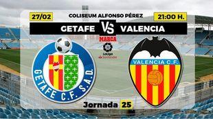 Getafe y Valencia un duelo que fue de Champions.