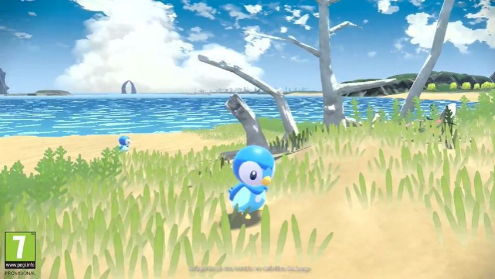 Así lucen Piplup y los entornos naturales de Leyendas Pokémon: Arceus.