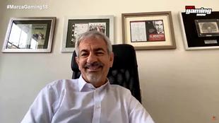 Carlos Sobera, durante un instante de la entrevista