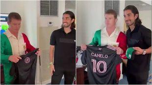 Camelo Álvarez recibe a Rodolfo Pizarro en Miami.