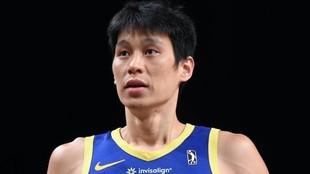 Lin durante un partido con los Santa Cruz Warriors.
