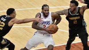 Leonard, durante un momento del Grizzlies vs Clippers.