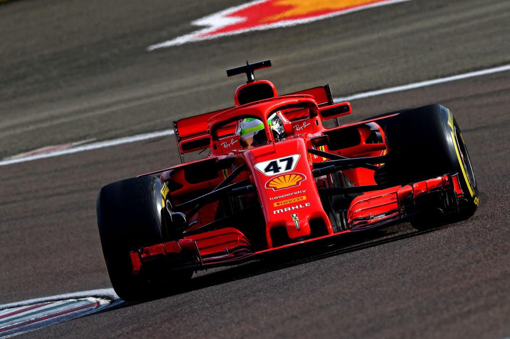 Mick Schumacher, en test de Fiorano.