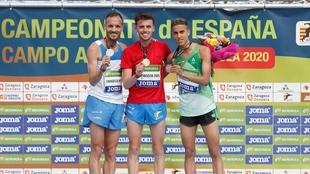 Toni Abadia, Carlos Mayo  y Ouassim Oumaiz, en el podio del pasado...