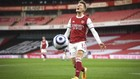 Martin Odegaard, en un partido disputado en el Emirates entre el...