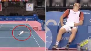El genial punto de la promesa del tenis español... ¡que acabó en lágrimas y con un dolor 'infernal'!