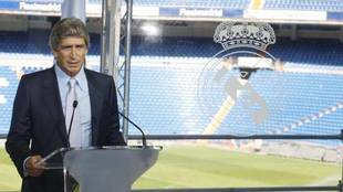 Pellegrini at his Real Madrid presentation