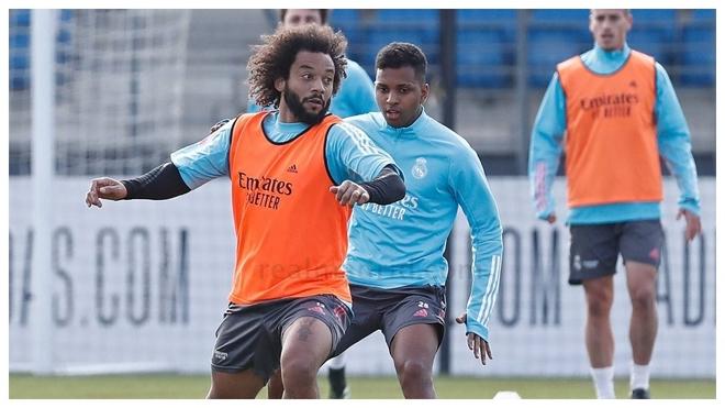 Marcelo y Rodrygo, dos de los recuperados para el partido ante la Real...