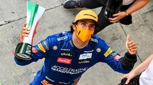 Sainz, segundo en el pasado Gran Premio de Italia.