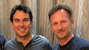Christian Horner encantado con Checo Pérez.
