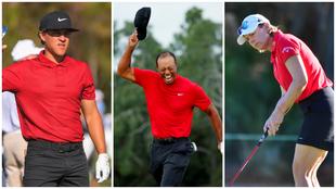 Jugadoras y jugadores del PGA y LPGA rindieron un homenaje a Tiger. |