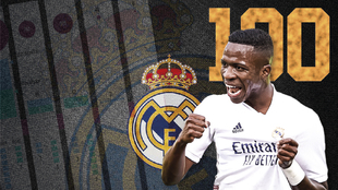 Vinicius JR 100 partidos Real Madrid