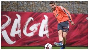 Abel Ruiz, en un entrenamiento con el Braga.