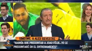 """Desvelan a quién mandó callar Joao Félix y Pedrerol responde: """"Buen intento del Atlético..."""""""