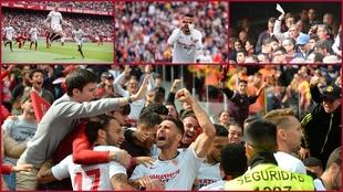 Último partido del Sevilla con público, 1 de marzo de 2020.