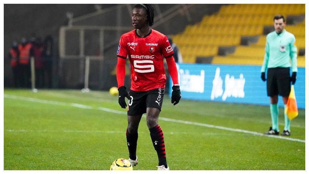 Eduardo Camavinga, en un partido contra el Rennes.