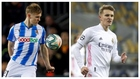 Odegaard with Real Sociedad and Real Madrid.