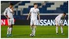 Kroos, ante la pelota, en el partido de Bérgamo.