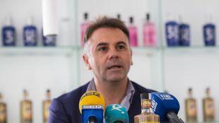 Manuel Franganillo, en una comparecencia ante los medios /