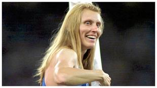 Irina Priválova durante los Juegos de Sidney de 2000.