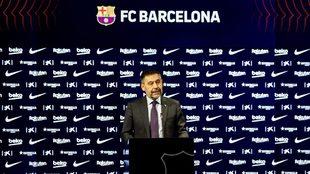 Bartomeu during a press conference