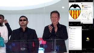 El príncipe de Johor junto a Peter Lim en el palco privado del...
