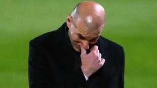 Zinedine Zidane en el empate entre Real Madrid y Real Sociedad.