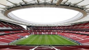 Imagen panorámica del interior del estadio Wanda Metropolitano.