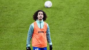 Marc Cucurella, antes de un partido con el Getafe,