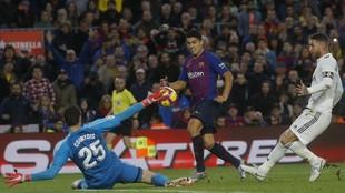 Suárez, el día que le marcó un hat-trick al Madrid de Courtois... y...