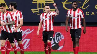 Berenguer celebra uno de los seis goles que ha marcado en LaLiga.