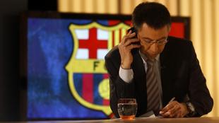 Bartomeu, expresidente del Barça, durante una entrevista
