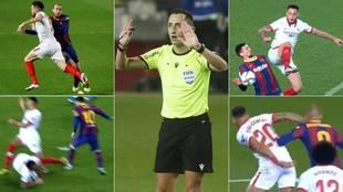 Barcelona Sevilla Copa del Rey Jugadas polemicas penaltis manos