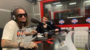 Jerry Di y Antonio José en los estudios principales de Radio MARCA