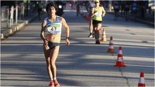 María Pérez, en el campeonato de España de 35 km marcha.