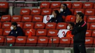 Julen Lopetegui, en el Camp Nou.